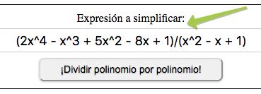 ¡Dividir polinomio por polinomio!
