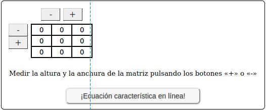 ¡Ecuación característica en línea!