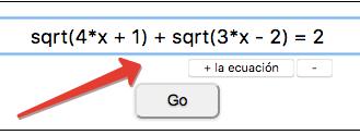 Ecuaciones irracionales intermedias