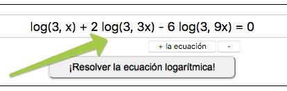 ¡Resolver la ecuación logarítmica!