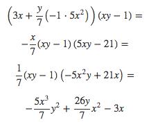 Multiplicación del polinomio por polinomio