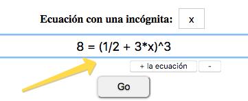 ¡Resolver la ecuación!